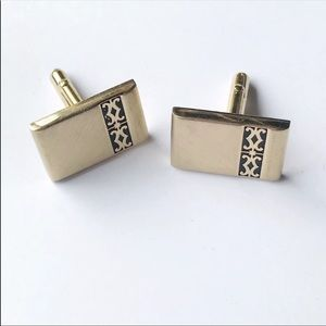 Swank Vintage Rectangular Brushed Mens Cufflinks